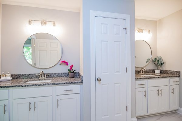 Owner's bathroom in beautiful renovated ranch home by Richmond Hill Design-Build