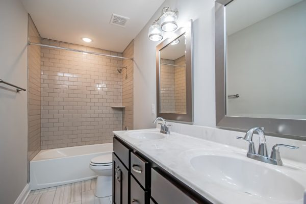 Guest bathroom in beautiful renovated ranch home by Richmond Hill Design-Build