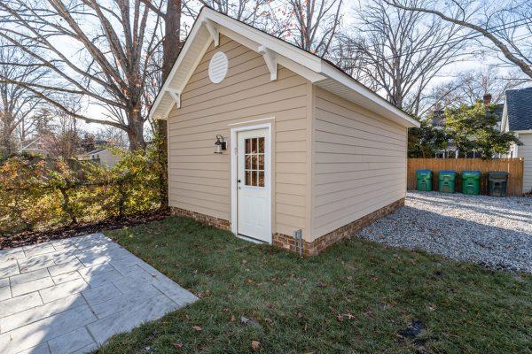 Garage behind new home built by Richmond Hill Design-Build