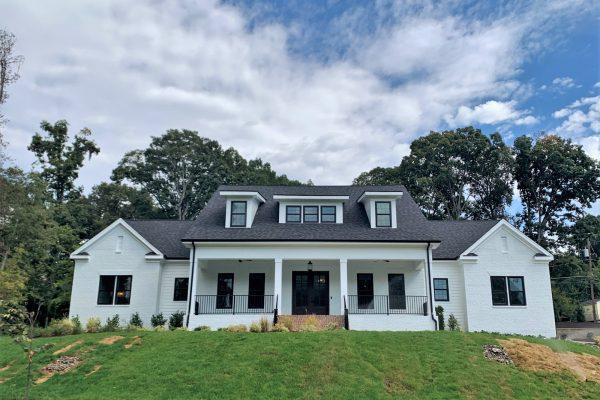 Gorgeous white painted brick home built by Richmond Hill Design-Build