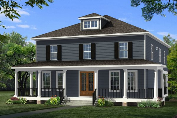 Richmond Hill Design + Build Whitby plan with wrap porch