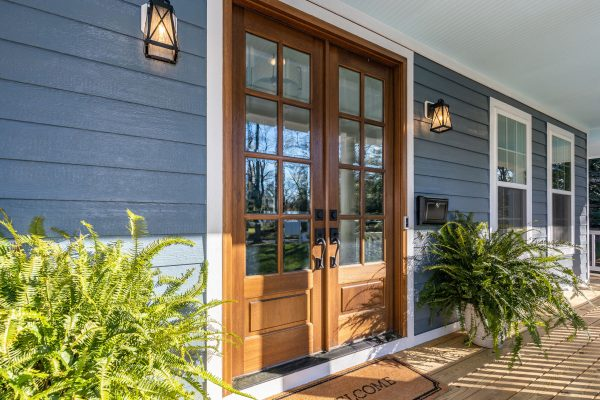 Front doors of new home built by Richmond Hill Design-Build