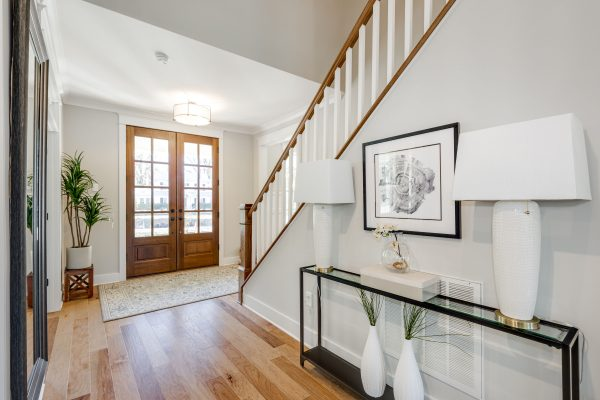 Foyer of new home built by Richmond Hill Design-Build