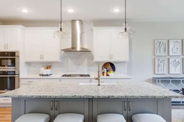 Beautiful island in kitchen of new home built by Richmond Hill Design-Build