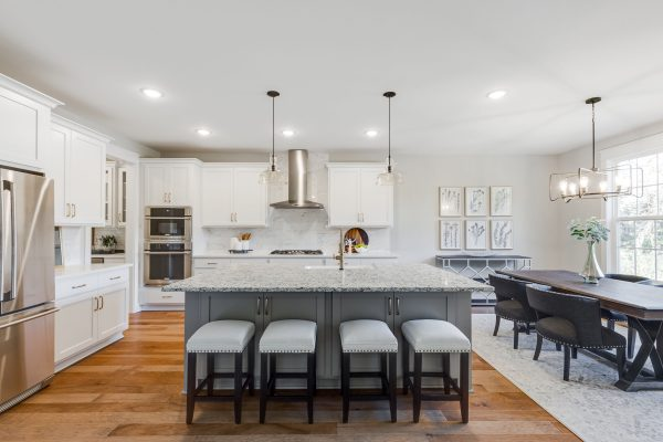 Island in kitchen of new home built by Richmond Hill Design-Build