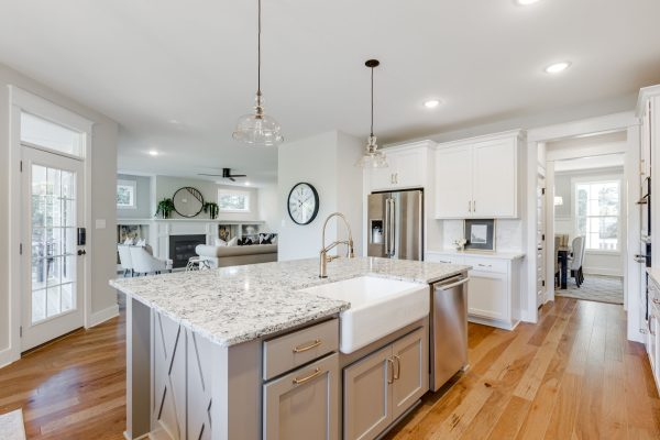 Gorgeous kitchen of new home built by Richmond Hill Design-Build