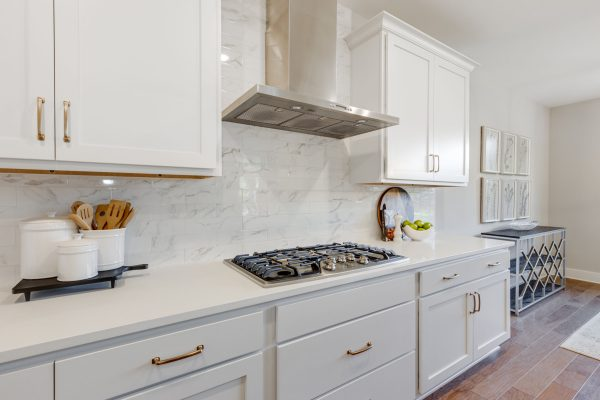 Cooktop in kitchen of new home built by Richmond Hill Design-Build