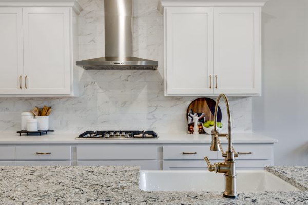 Articulating faucet in kitchen of new home built by Richmond Hill Design-Build