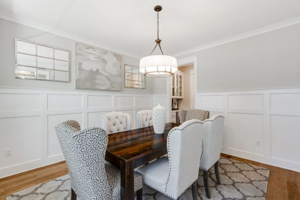 Dining room in new home built by Richmond Hill Design-Build
