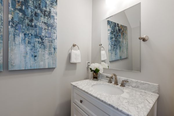 Powder room in new home built by Richmond Hill Design-Build