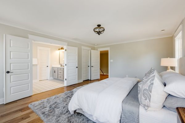 Owner's bedroom in new home built by Richmond Hill Design-Build