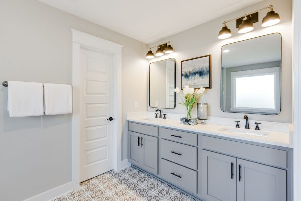 Luxurious owner's bathroom in new home built by Richmond Hill Design-Build