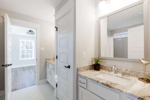 Jack and Jill bathroom in new home built by Richmond Hill Design-Build