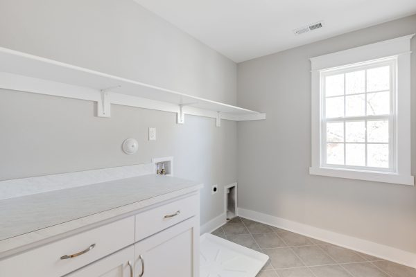 Laundry room in new home built by Richmond Hill Design-Build
