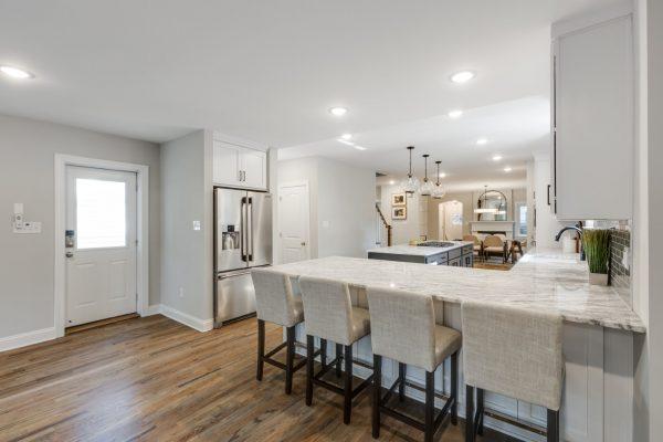 Kitchen in renovated Tudor home by Richmond Hill Design-Build