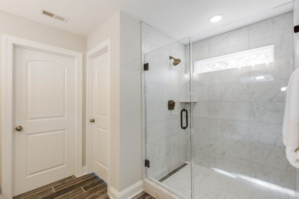 Owner's shower in renovated home by Richmond Hill Design-Build