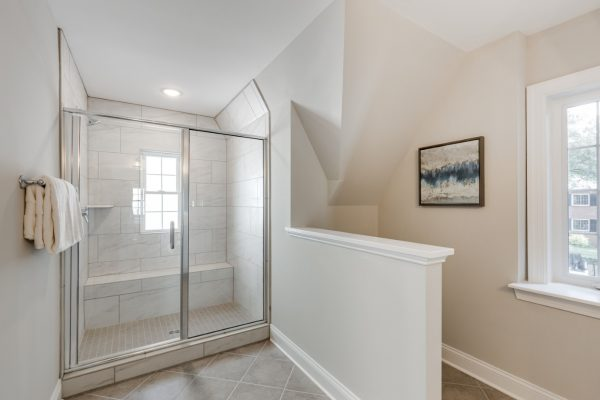 Guest bathroom in renovated home by Richmond Hill Design-Build