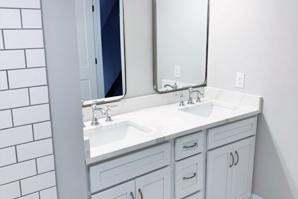 Guest bathroom in renovation by Richmond Hill Design-Build