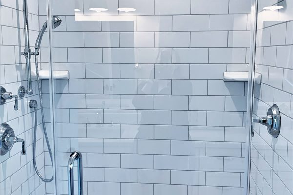 Owner's shower in renovation by Richmond Hill Design-Build