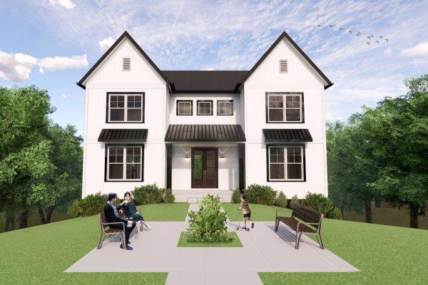 Rendering of home at 4 Raven Rock Lane, Richmond VA by Richmond Hill Design-Build
